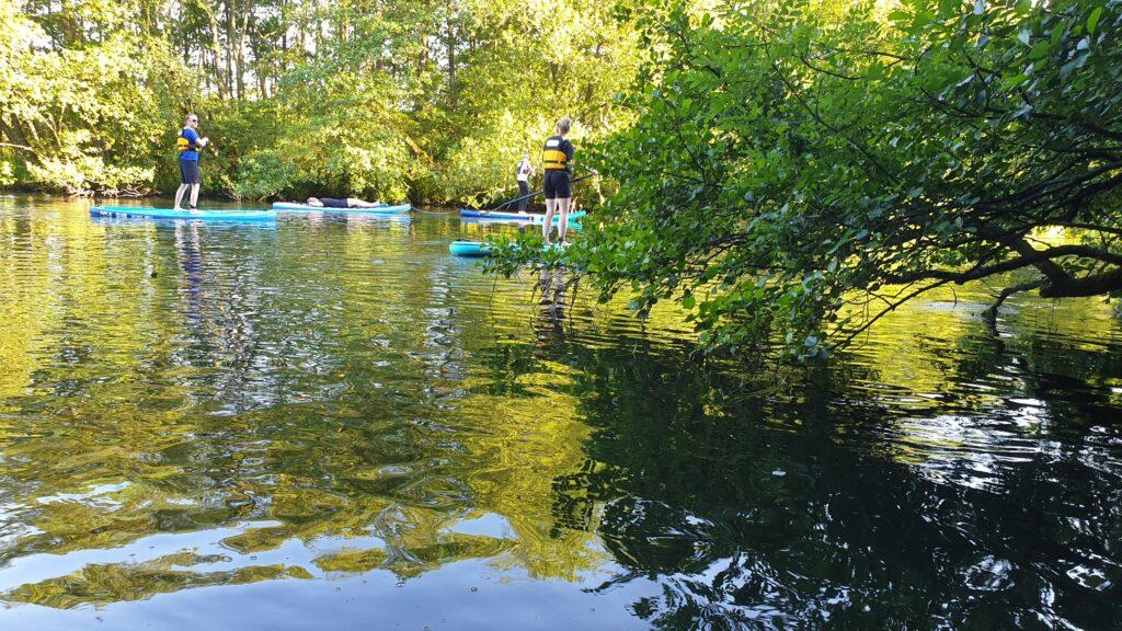Paddle-boards på Gudenåen
